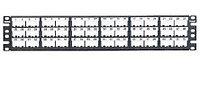 Коммутационная патч-панель наборная Panduit Mini-Com, 19, 2HU, портов: 72 х Mini-Com, кат. 6, порты в 2 ряда, цвет: чёрный, с маркерами, CPPL72WBLY