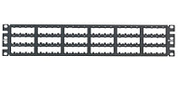 Коммутационная патч-панель наборная Panduit Mini-Com, 19, 2HU, портов: 72 х Mini-Com, кат. 5е, универсальная, экр., порты в 3 ряда, цвет: чёрный,