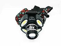 Налобный фонарь MX-862 ZOOM, фото 1