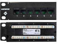 Коммутационная патч-панель Siemon, 19, 1HU, портов: 24хRJ45, кат. 5е, универсальная, неэкр., встраиваемый, цвет: чёрный, HD5-24B