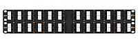 Коммутационная патч-панель Nikomax, 19, 2HU, портов: 48хRJ45/8P8C, кат. 5е, неэкр., 19, цвет: чёрный, NMC-RP48UD2-AN-2U-BK