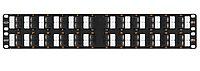 Коммутационная патч-панель Nikomax, 19, 2HU, портов: 48хRJ45/8P8C, кат. 6, экр., 19, цвет: чёрный, NMC-RP48UE2-AN-2U-BK