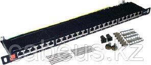 Коммутационная патч-панель Lanmaster, 19, 0,5HU, портов: 24хRJ45, кат. 6A, экр., цвет: чёрный, LAN-PPC24S6A