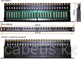 Коммутационная патч-панель Lanmaster, 19, 0,5HU, портов: 24хRJ45, кат. 5е, экр., цвет: чёрный, LAN-PPC24S5E