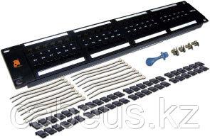 Коммутационная патч-панель Lanmaster, 19, 1HU, портов: 48 х RJ45, кат. 6, неэкр., цвет: чёрный, LAN-PPL48U6