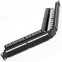 Коммутационная патч-панель Nexans LANmark, 19, 1HU, портов: 24хsnap-in, кат. 5-7, универсальная, с задним кабельным организатором, цвет: чёрный,