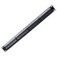 Коммутационная патч-панель Nexans LANmark, 19, 1HU, портов: 24хsnap-in, кат. 5-7, универсальная, с задним кабельным организатором без модулей, цвет: