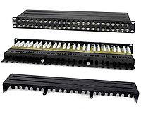 Коммутационная патч-панель Hyperline, 19, 1HU, портов: 48хRJ45, кат. 6A, универсальная, неэкр., цвет: чёрный, PPHD-19-48-8P8C-C6A-110D