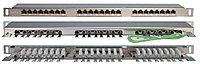 Коммутационная патч-панель Hyperline, 19, 0,5HU, портов: 24хRJ45, кат. 6, экр., цвет: серый, PPHD-19-24-8P8C-C6-SH-110D
