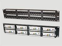 Коммутационная патч-панель Eurolan, 19, 2HU, портов: 48хRJ45, кат. 5е, универсальная, неэкр., цвет: чёрный, 27B-U5-48BL