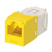 Модуль универсальный Panduit Mini-Com, 1хRJ458P8C, 180°, кат. 6, неэкр., цвет: жёлтый, CJ688TGYL