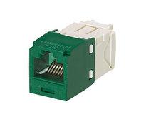 Модуль универсальный Panduit Mini-Com, 1хRJ458P8C, 180°, кат. 6, неэкр., цвет: зелёный, CJ688TGGR