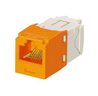 Модуль универсальный Panduit Mini-Com, 1хRJ458P8C, 180°, кат. 6, неэкр., цвет: оранжевый, CJ688TGOR