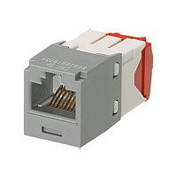 Модуль универсальный Panduit Mini-Com, 1хRJ458P8C, 180°, кат. 5е, неэкр., 24 шт, цвет: серый, CJ5E88TGIG-24