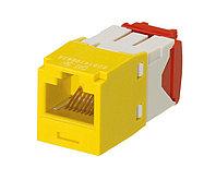 Модуль универсальный Panduit Mini-Com, 1хRJ458P8C, 180°, кат. 5е, неэкр., цвет: жёлтый, CJ5E88TGYL
