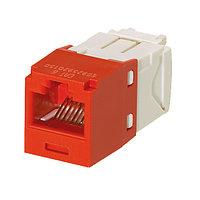 Модуль универсальный Panduit Mini-Com, 1хRJ458P8C, 180°, кат. 6, неэкр., цвет: красный, CJ688TGRD