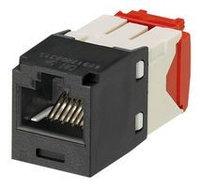 Модуль универсальный Panduit Mini-Com, 1хRJ458P8C, 180°, кат. 5е, неэкр., цвет: чёрный, CJ5E88TGBL
