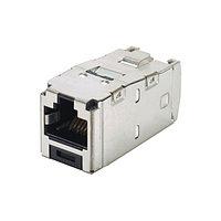 Модуль универсальный Panduit Mini-Com, 1хRJ458P8C, 180°, кат. 5е, экр., 24 шт, CJS5E88TGY-24