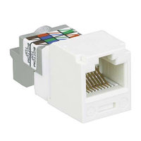 Модуль универсальный Panduit Mini-Com, 1хRJ458P8C, 90°, кат. 6, 250 Мгц, неэкр., цвет: активный белый, CJ688TPAW