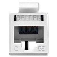 Модуль универсальный Belden, keystone, 1хRJ45, кат. 5е, неэкр., цвет: белый, RV5MJKUEW-S1