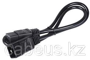 Силовой шнур ITK, IEC 320 C19 , вилка IEC 60320 С20, 1 м, 16А, цвет: чёрный