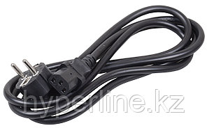 Силовой шнур ITK, IEC 320 C13, вилка Schuko, 1 м, 10А, цвет: чёрный