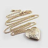 Кулон-медальон на цепочке ''Любовь в сердце'', фото 5