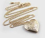 Кулон-медальон на цепочке ''Любовь в сердце'', фото 3