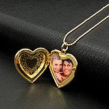 Кулон-медальон на цепочке ''Любовь в сердце'', фото 6