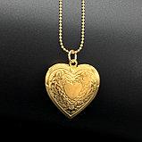 Кулон-медальон на цепочке ''Любовь в сердце'', фото 7