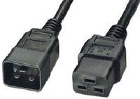 Шнур для блока питания Lanmaster, IEC 60320 С19, вилка IEC 60320 С20, 3 м, 16А, цвет: чёрный