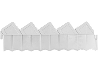 Ограждение GRINDA для клумб, цвет белый, 2 секции