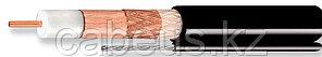 Кабель коаксиальный Cavel, PE, двухслойный экран 100 45, 75 /-3 Ом, бухта, 500 м, с тросом, цвет: чёрный