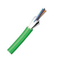 Кабель волоконно-оптический Molex Lightband, Loose tube, 4хОВ, OM3 50/125, LSZH, Ø 6,5мм, небронированный, армирование волокна e-glass, цвет: зелёный