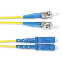 Коммутационный шнур оптический Panduit, Duplex ST/SC, OS2 9/125, LSZH, Ø 3мм, 2м, цвет: жёлтый, F9LD2-3M2