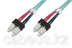Коммутационный шнур оптический Panduit, Duplex SC/SC, OM3 50/125, LSZH, Ø 3мм, 1м, цвет: голубой,