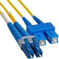 Коммутационный шнур оптический NTSS Tight Buffer, Duplex LC/SC, OS2 9/125, PVC, 7м, цвет: жёлтый, NTSS-FODPC-9-LC/SC-7