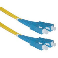 Коммутационный шнур оптический NTSS Tight Buffer, Duplex SC/SC, OS2 9/125, PVC, 20м, цвет: жёлтый,