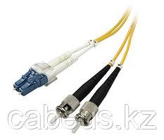Коммутационный шнур оптический NTSS Tight Buffer, Duplex LC/ST, OS2 9/125, PVC, 15м, цвет: жёлтый,