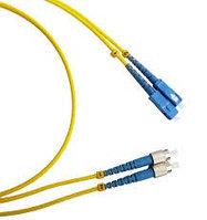 Коммутационный шнур оптический NTSS Tight Buffer, Simplex FC/ST APC, OS2 9/125, PVC, 6м, цвет: жёлтый,