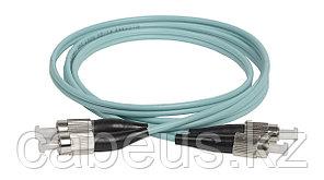 Коммутационный шнур оптический ITK, Duplex FC/FC UPC/UPC, OM3 50/125, 2м, цвет: бирюзовый,