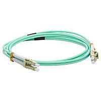 Коммутационный шнур оптический Lanmaster, Duplex LC/LC UPC/UPC, OM3 50/125, LSZH, Ø 3мм, 3м, цвет: голубой, LAN-2LC-2LC/OM3-3.0