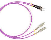 Коммутационный шнур оптический Hyperline, Duplex SC/ST, OM4 50/125, LSZH, Ø 2мм, 3м, цвет: маджента, FC-D2-504-SC/PR-ST/PR-H-3M-LSZH-MG