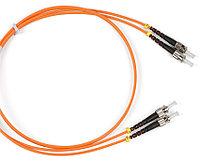 Коммутационный шнур оптический Hyperline, Duplex ST/ST, OM2 50/125, LSZH, Ø 2мм, 1м, цвет: оранжевый, FC-D2-50-ST/PR-ST/PR-H-1M-LSZH-OR