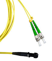 Коммутационный шнур оптический Hyperline, Duplex ST/MTRJM APC, OS2 9/125, LSZH, Ø 2мм, 2м, цвет: жёлтый, FC-D2-9-MTRJM/AR-ST/AR-H-2M-LSZH-YL