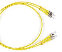 Коммутационный шнур оптический Hyperline, Duplex ST/ST UPC, OS2 9/125, LSZH, Ø 2мм, 3м, цвет: жёлтый, FC-D2-9-ST/UR-ST/UR-H-3M-LSZH-YL