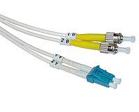 Коммутационный шнур оптический Hyperline, Duplex ST/LC UPC, G657 9/125, LSZH, Ø 2мм, 2м, цвет: белый, FC-D2-9A1-LC/UR-ST/UR-H-2M-LSZH-WH