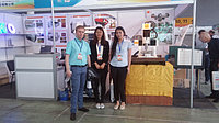 Наши специалисты у стенда нашего партнера Yantong Century на 13-й Выставке Китайских Товаров в Казахстане. Алматы, май 2015 года.