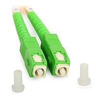 Коммутационный шнур оптический Cabeus Tight Buffer, Simplex SC/SC APC/APC, OS2 9/125, LSZH, Ø 2мм, 15м, цвет: жёлтый, FOPs-9-SC/APC-SC/APC-15m
