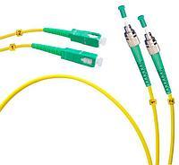 Коммутационный шнур оптический Cabeus Tight Buffer, Duplex FC/SC APC, OS2 9/125, LSZH, Ø 2мм, 15м, цвет: жёлтый, FOPd-9-FC/APC-SC/APC-15m